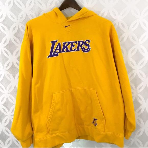 best service 68469 73bb2 Nike Los Angeles Lakers Yellow Hoodie